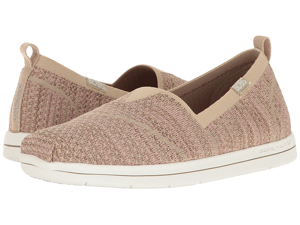 BOBS from SKECHERS Super Plush (Taupe/Pink) Women