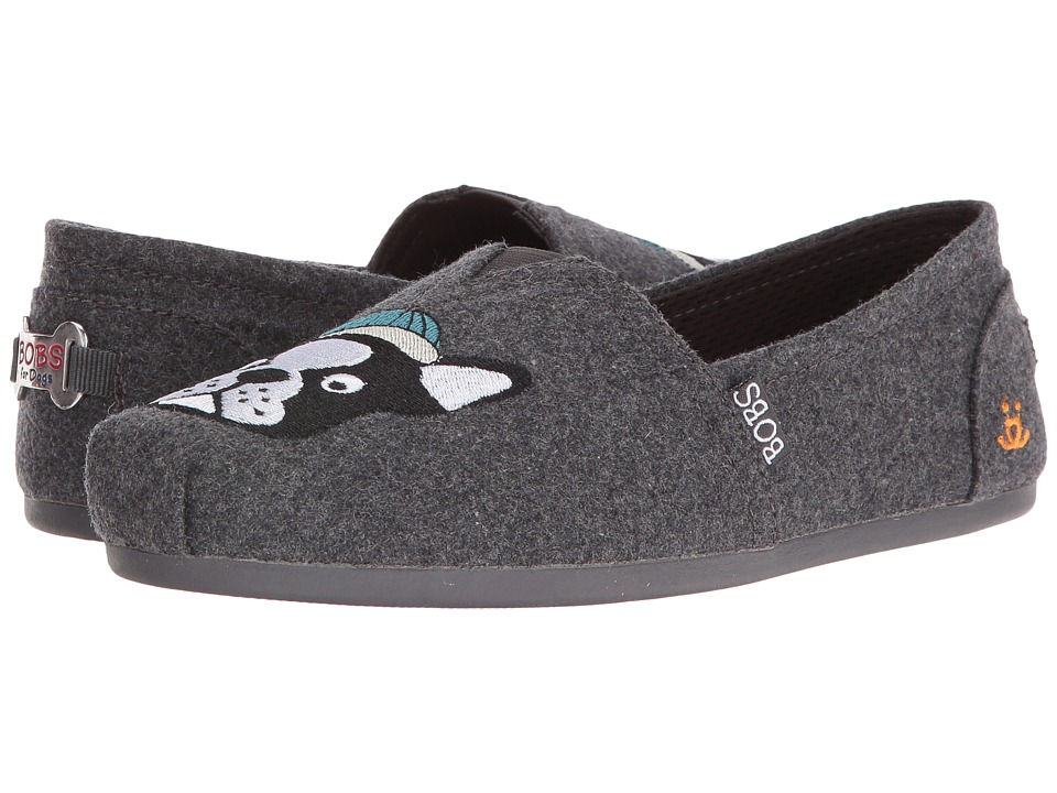 BOBS from SKECHERS - Bobs Plush - Play Ball (Charcoal) Women's Slip on Shoes
