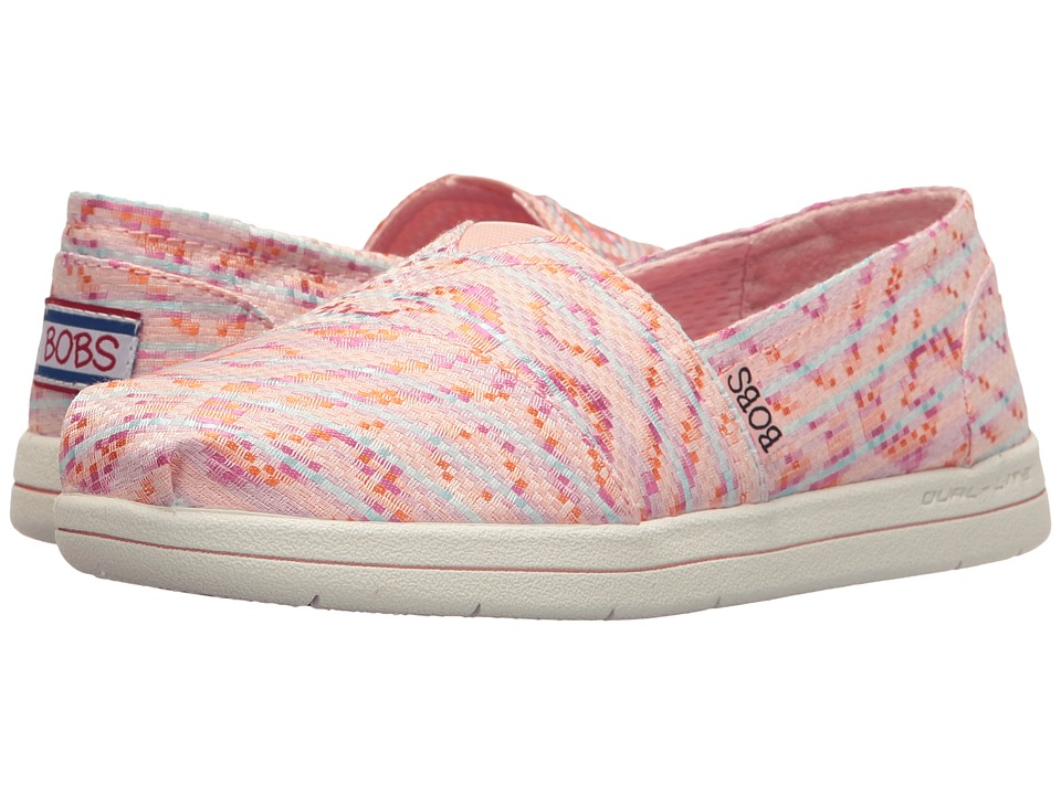 BOBS from SKECHERS Super Plush Mixed (Pink/Multi) Women