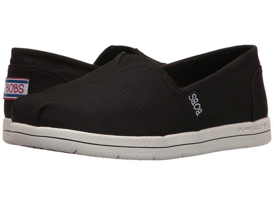BOBS from SKECHERS - Super Plush - Slick N Cool (Black) Women's Slip on Shoes