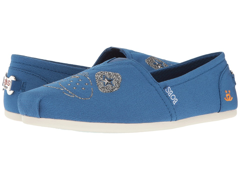 BOBS from SKECHERS - Bobs Plush - See Spot Run (Blue) Women's Slip on Shoes