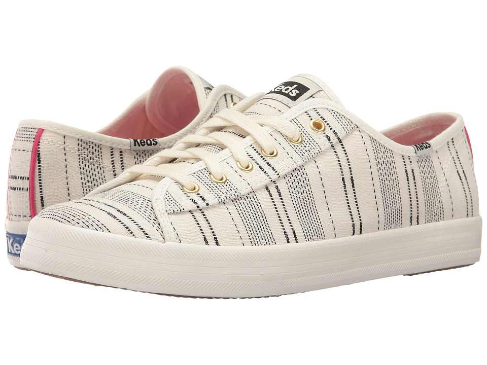 Keds - Kickstart Baja Stripe (Cream) Women's Lace up casual Shoes