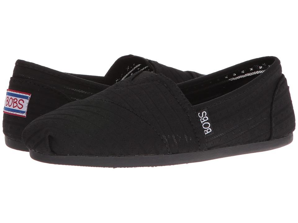 BOBS from SKECHERS - Bobs Plush (Black/Black) Women's Shoes