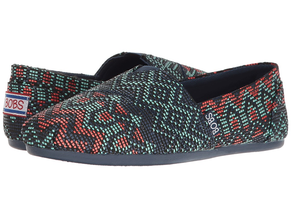 BOBS from SKECHERS - Bobs Plush (Navy/Multi) Women's Shoes