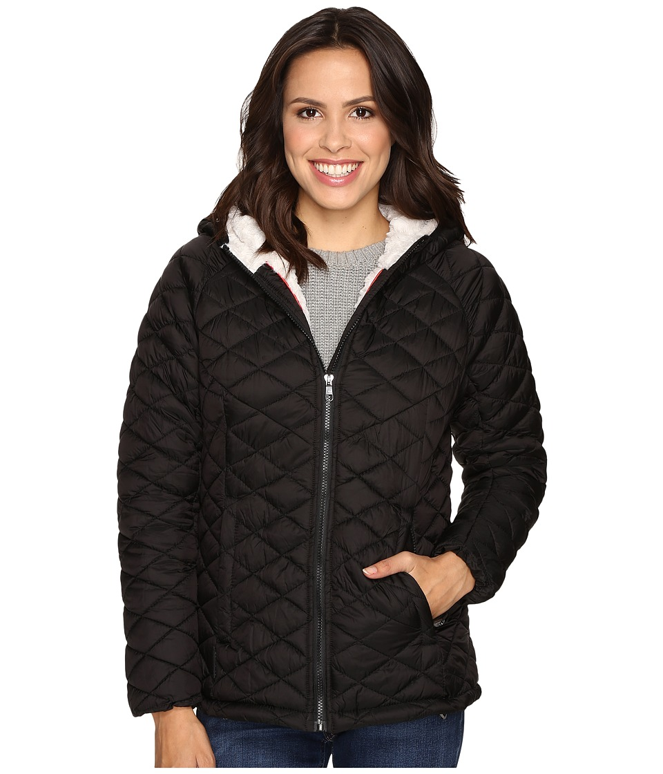 Steve Madden - Glacier Shield Hooded Quilted Jacket with Faux Fur Lining (Black) Women's Coat