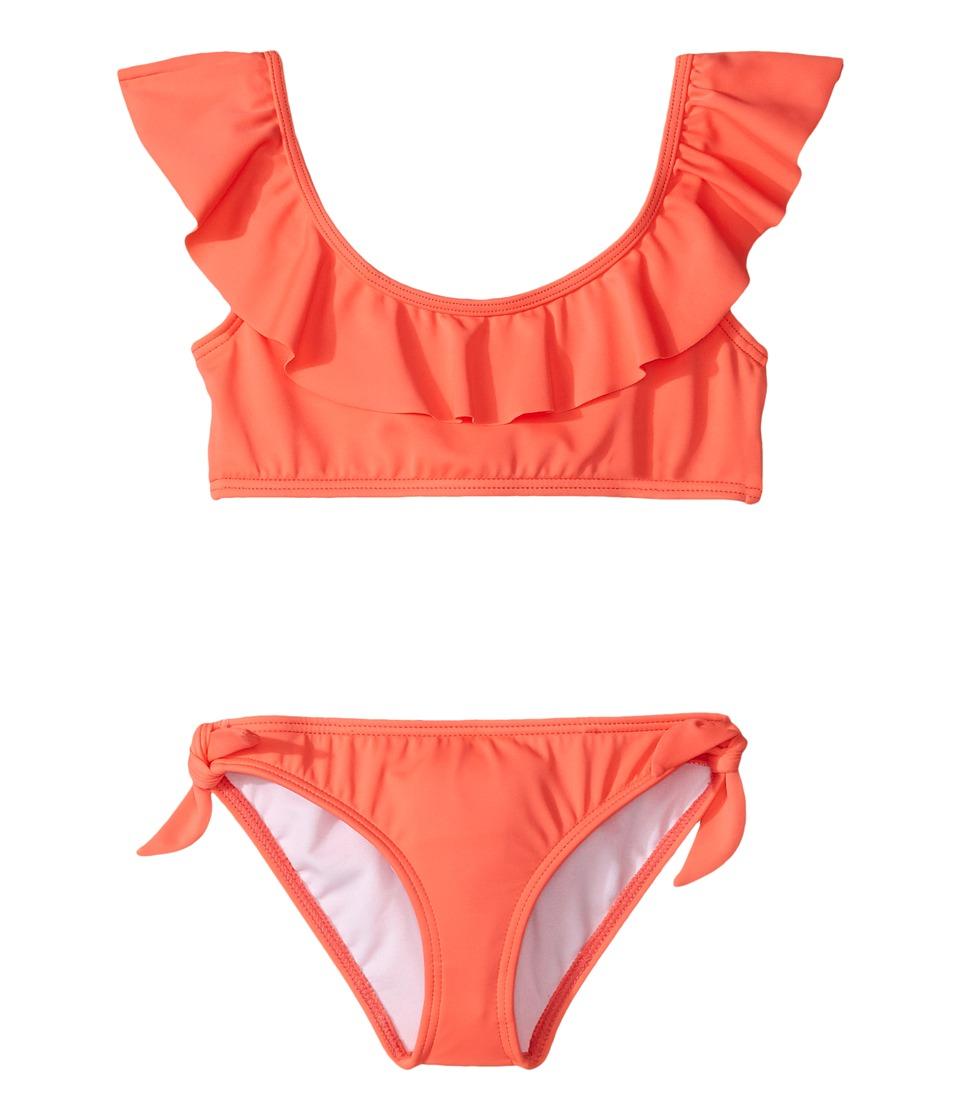 Billabong Kids - Sol Searcher Ruffle Set (Little Kids/Big Kids) (Tropical Punch) Girl's Swimwear Sets
