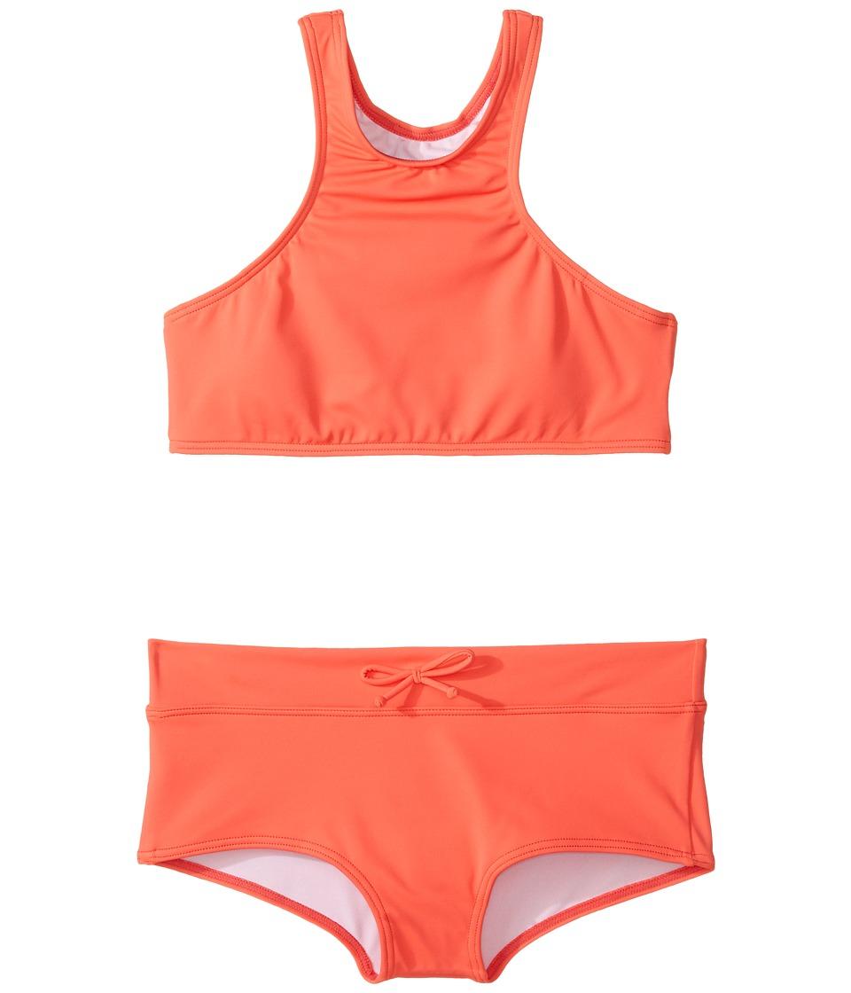 Billabong Kids - Sol Searcher High Neck Set (Little Kids/Big Kids) (Tropical Punch) Girl's Swimwear Sets