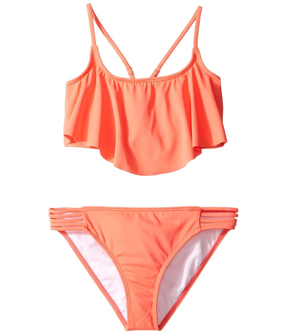 Billabong Kids - Sol Searcher Flutter Set (Little Kids/Big Kids) (Tropical Punch) Girl's Swimwear Sets