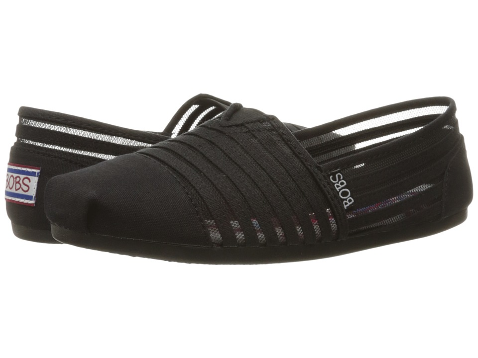 BOBS from SKECHERS - Bobs Plush (Black/Black 1) Women's Shoes