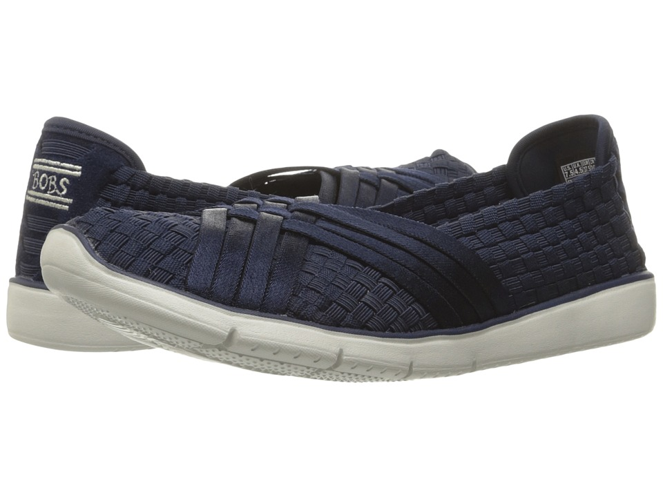 BOBS from SKECHERS - Pureflex 2 (Navy) Women's Slip on Shoes