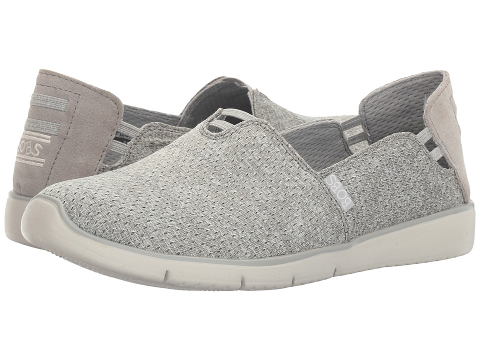 BOBS from SKECHERS - Pureflex 2 - Air Space (Gray) Women's Slip on Shoes