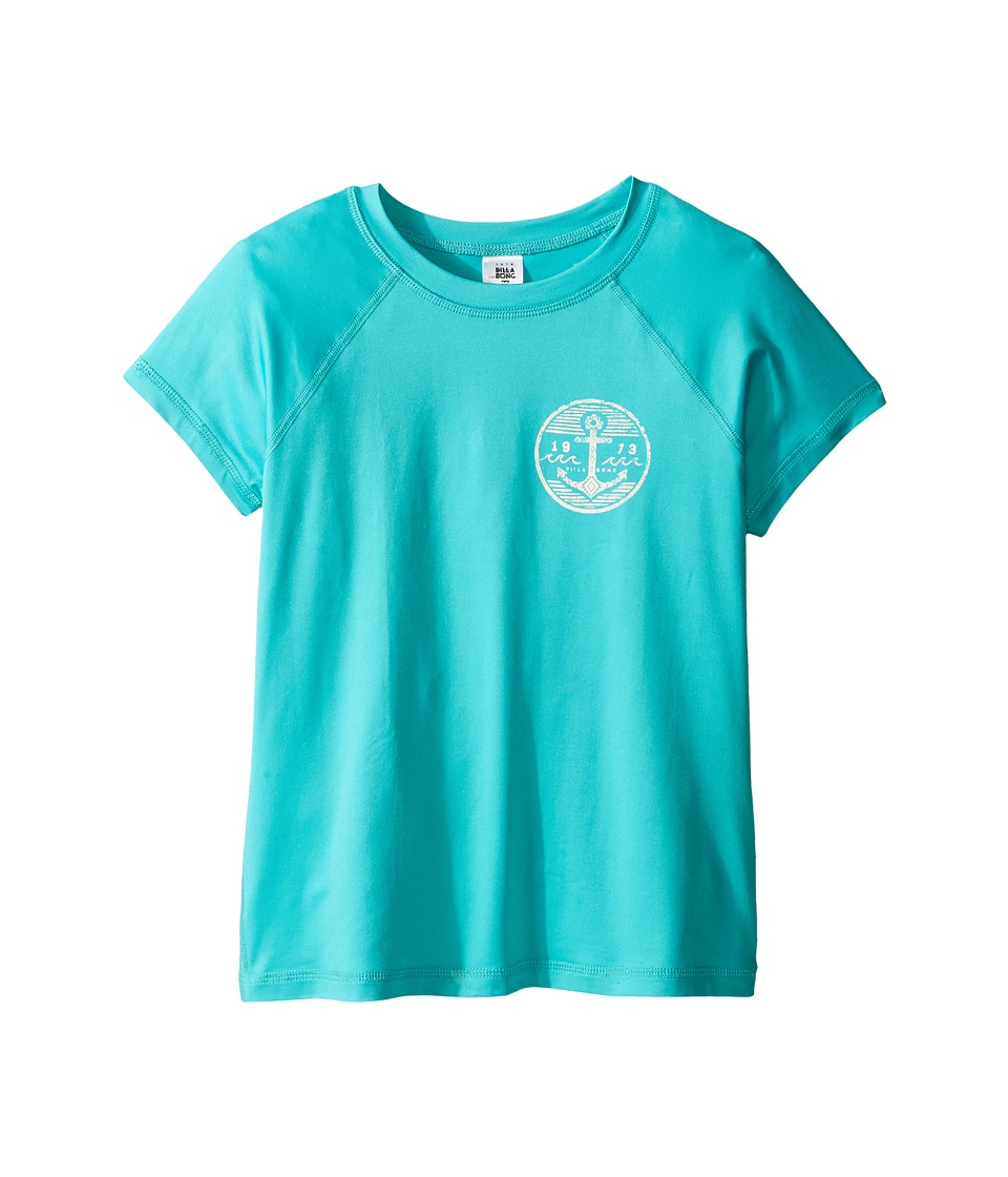 Billabong Kids Sol Searcher Short Sleeve Rashguard (Little Kids/Big Kids) (Paradise) Girl