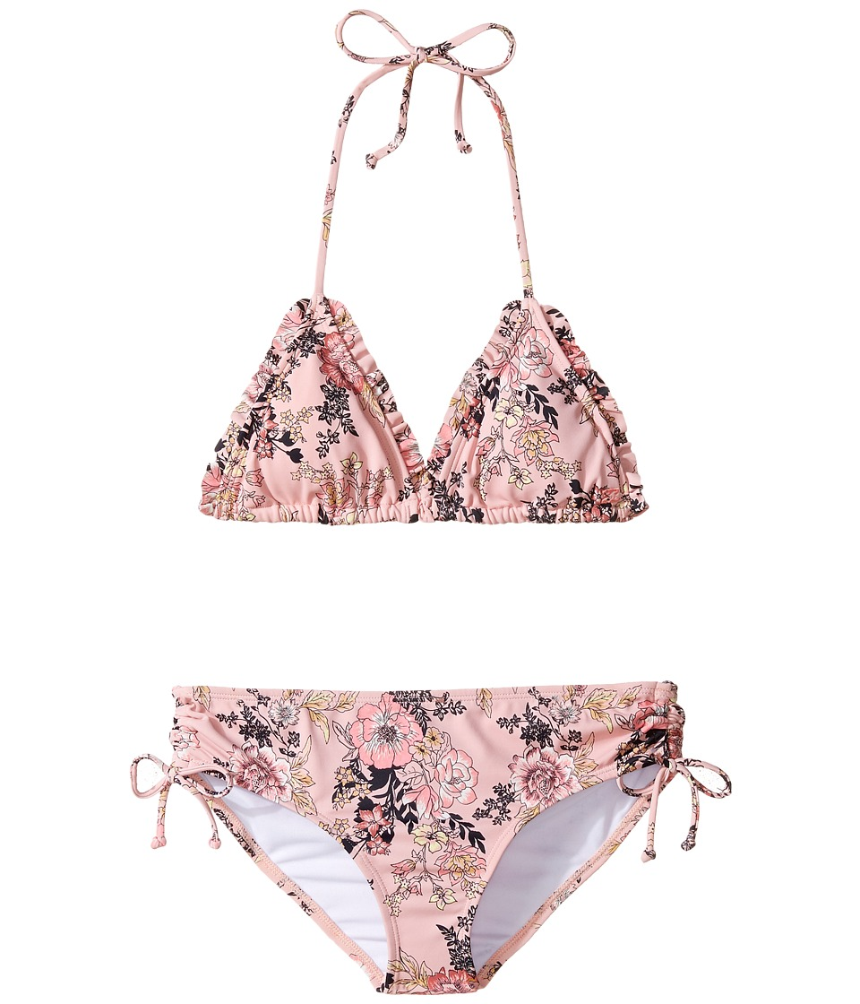 Billabong Kids - Beach Beauty Tri Set (Little Kids/Big Kids) (Dusty Rose) Girl's Swimwear Sets