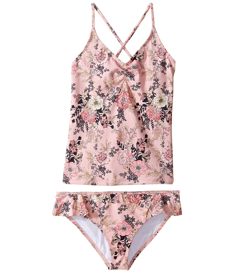 Billabong Kids Beach Beauty Tankini Set (Little Kids/Big Kids) (Dusty Rose) Girl