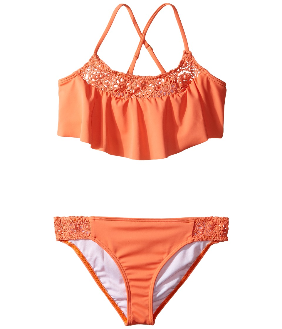 Billabong Kids - Just Beachy Flutter Set (Little Kids/Big Kids) (Tutti Frutti) Girl's Swimwear Sets