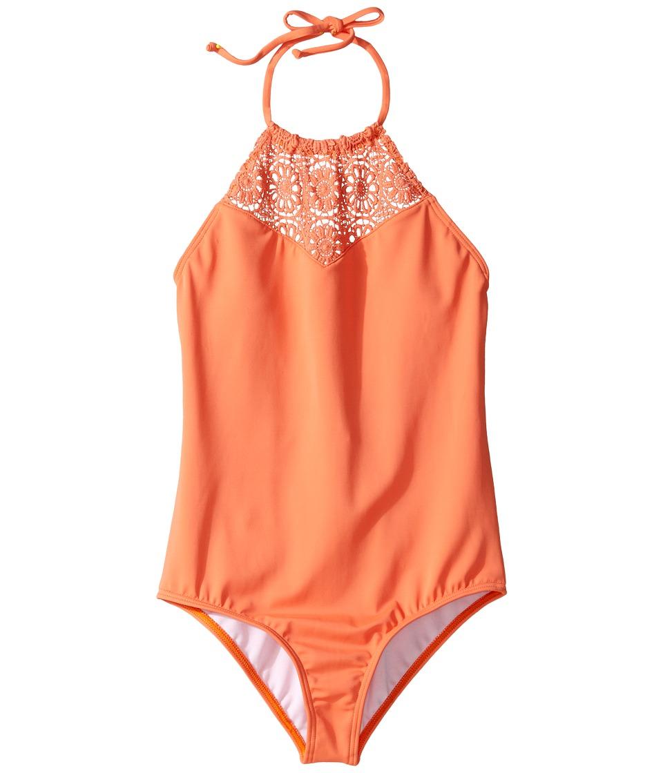 Billabong Kids - Just Beachy One-Piece (Little Kids/Big Kids) (Tutti Frutti) Girl's Swimsuits One Piece