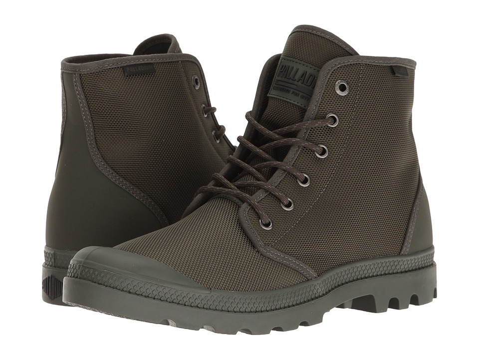Palladium - Pampa Hi Originale TX (Army Green/Castlerock) Lace-up Boots