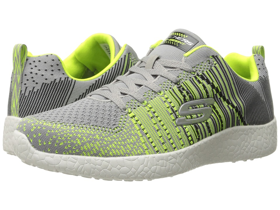 SKECHERS - Energy Burst In The Mix (Light Gray/Lime) Men's Shoes