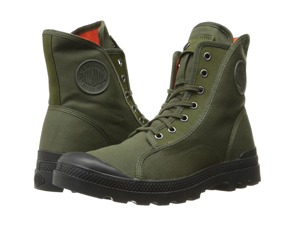 Palladium - Pampa M65 Hi (Army Green/Black/Flame) Men's Lace-up Boots