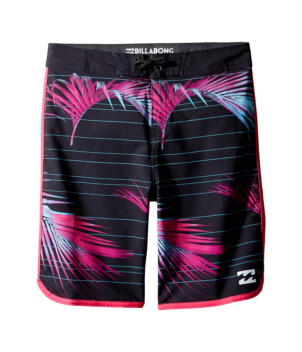 Billabong Kids - 73 X Lineup Boardshorts (Big Kids) (Black) Boy's Swimwear