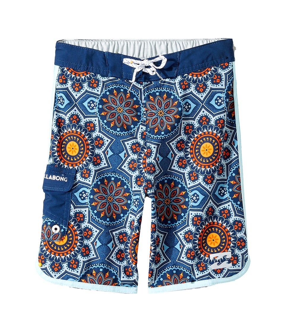 Billabong Kids - 73 X Lineup Boardshorts (Toddler/Little Kids) (Indigo) Boy's Swimwear