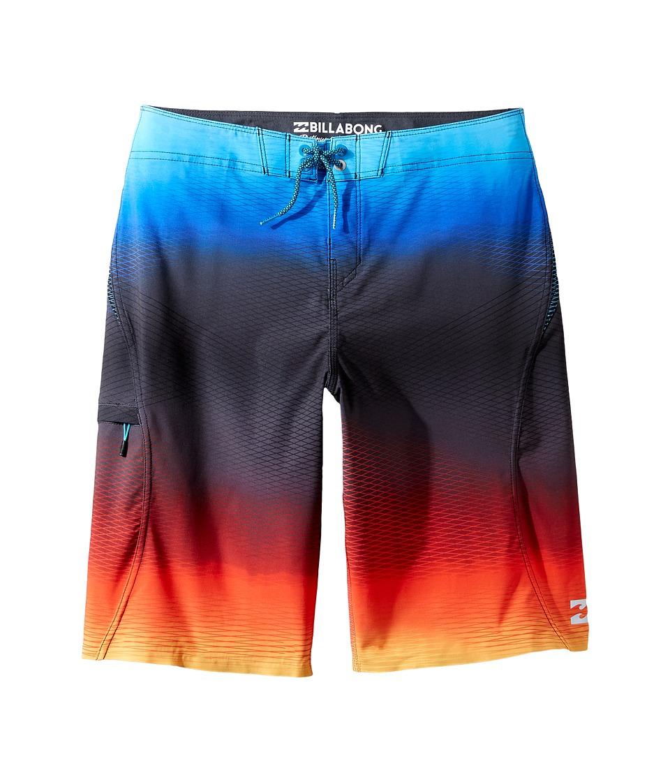 Billabong Kids - Fluid X Boardshorts (Big Kids) (Red) Boy's Swimwear