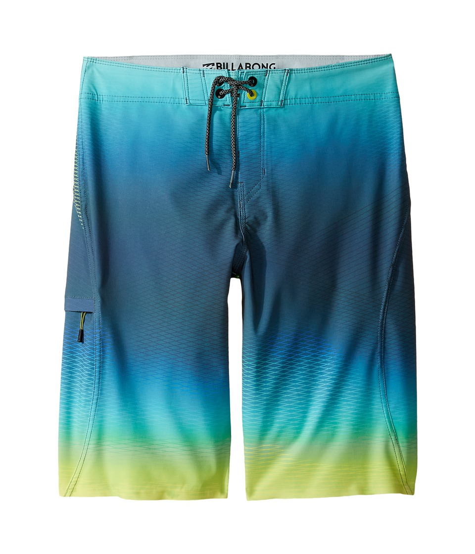 Billabong Kids - Fluid X Boardshorts (Big Kids) (Lime) Boy's Swimwear