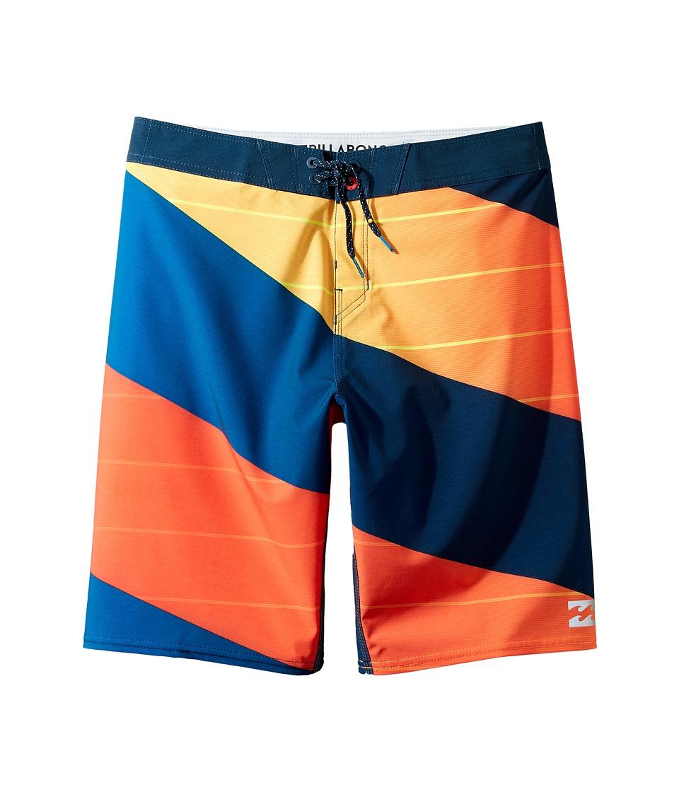 Billabong Kids - Prodigy X Boardshorts (Big Kids) (Red) Boy's Swimwear