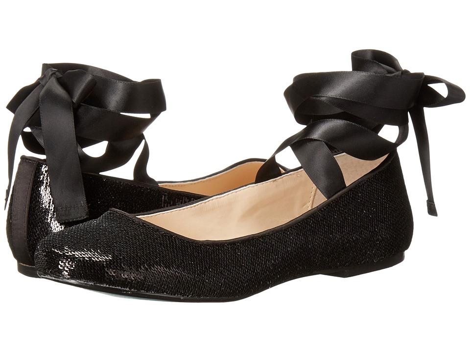 Blue by Betsey Johnson - Lark (Black Sequin) Women's Slip on Shoes