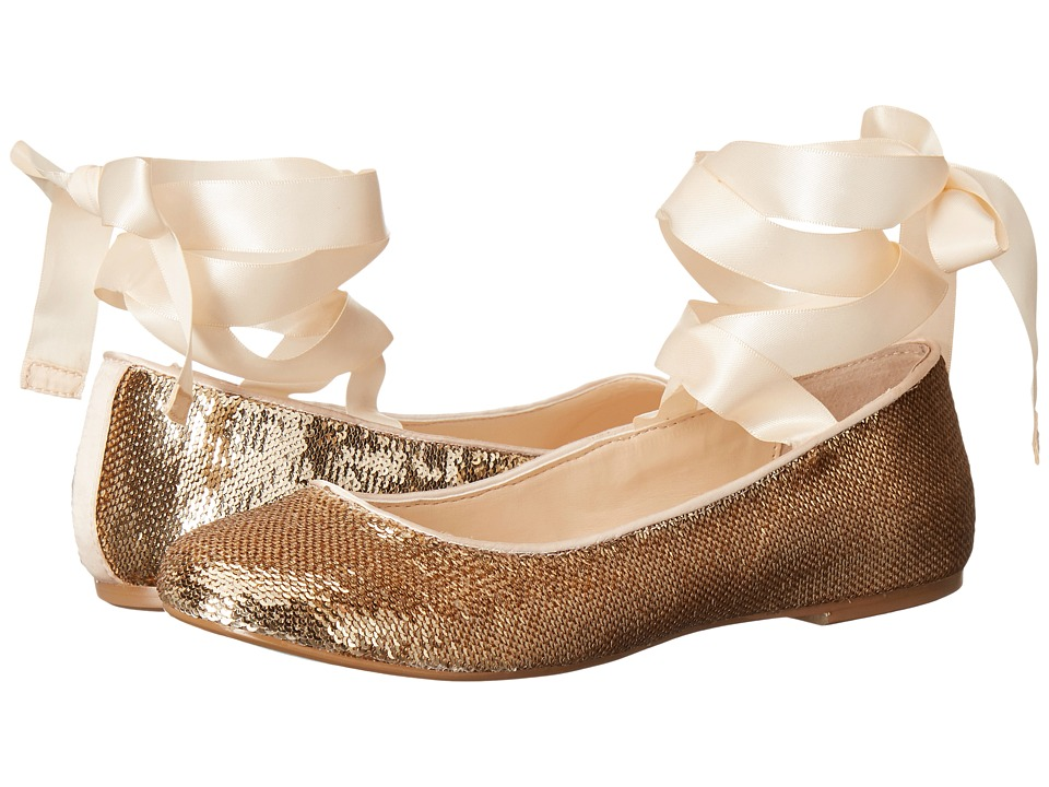 Blue by Betsey Johnson - Lark (Gold Sequin) Women's Slip on Shoes