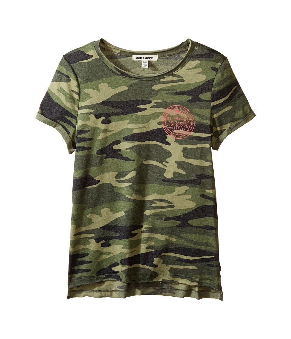 Billabong Kids - Roll With It Tee (Little Kids/Big Kids) (Camo) Girl's T Shirt