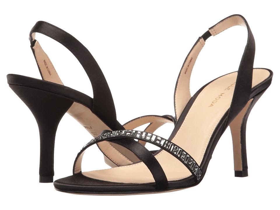 Pelle Moda - Inna (Black Satin) High Heels