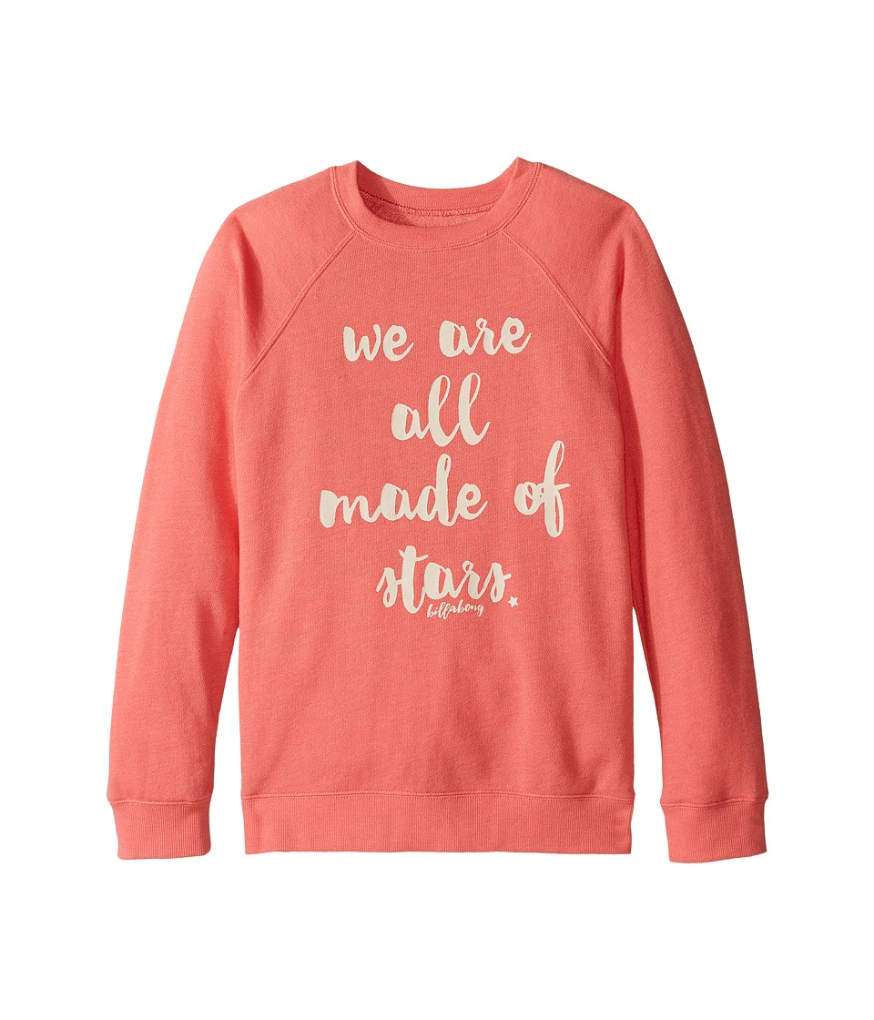 Billabong Kids - Sandy Cheeks Sweatshirt (Little Kids/Big Kids) (Pink Crush) Girl's Sweatshirt