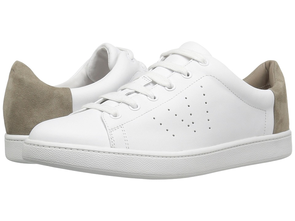 Vince - Varin (Optic White Matte/Woodsmoke Kid Suede) Women's Shoes