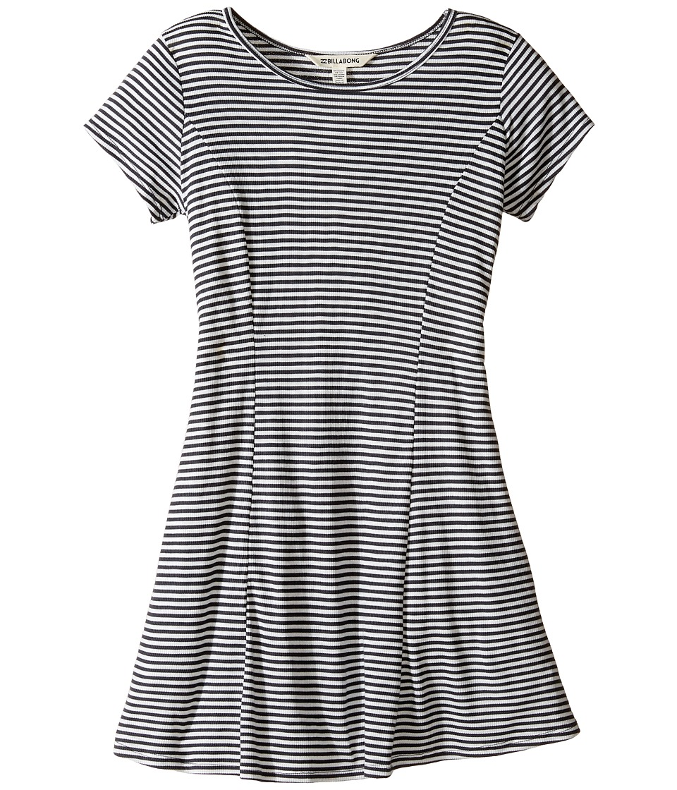 Billabong Kids Same Love Dress (Little Kids/Big Kids) (Black/White) Girl