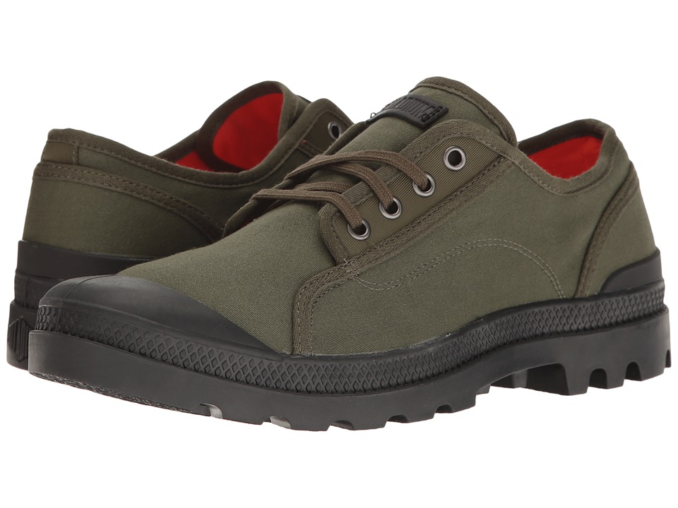 Palladium - Pampa M65 Oxford (Army Green/Black/Flame) Men's Lace up casual Shoes