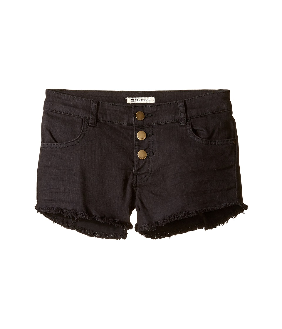 Billabong Kids - Buttoned Up Shorts (Little Kids/Big Kids) (Black Pebble) Girl's Shorts