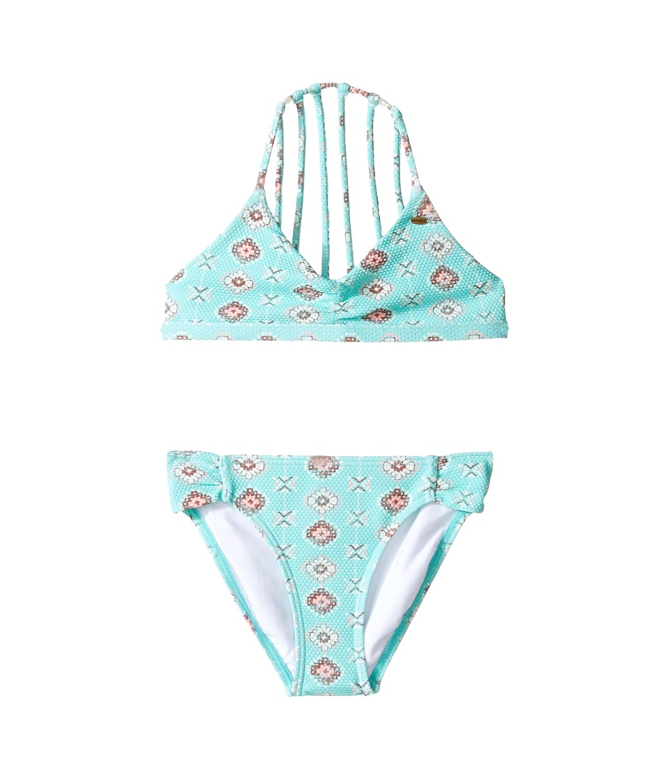 O'Neill Kids - Rocky Multi Strap Top (Little Kids/Big Kids) (Turquoise) Girl's Swimwear