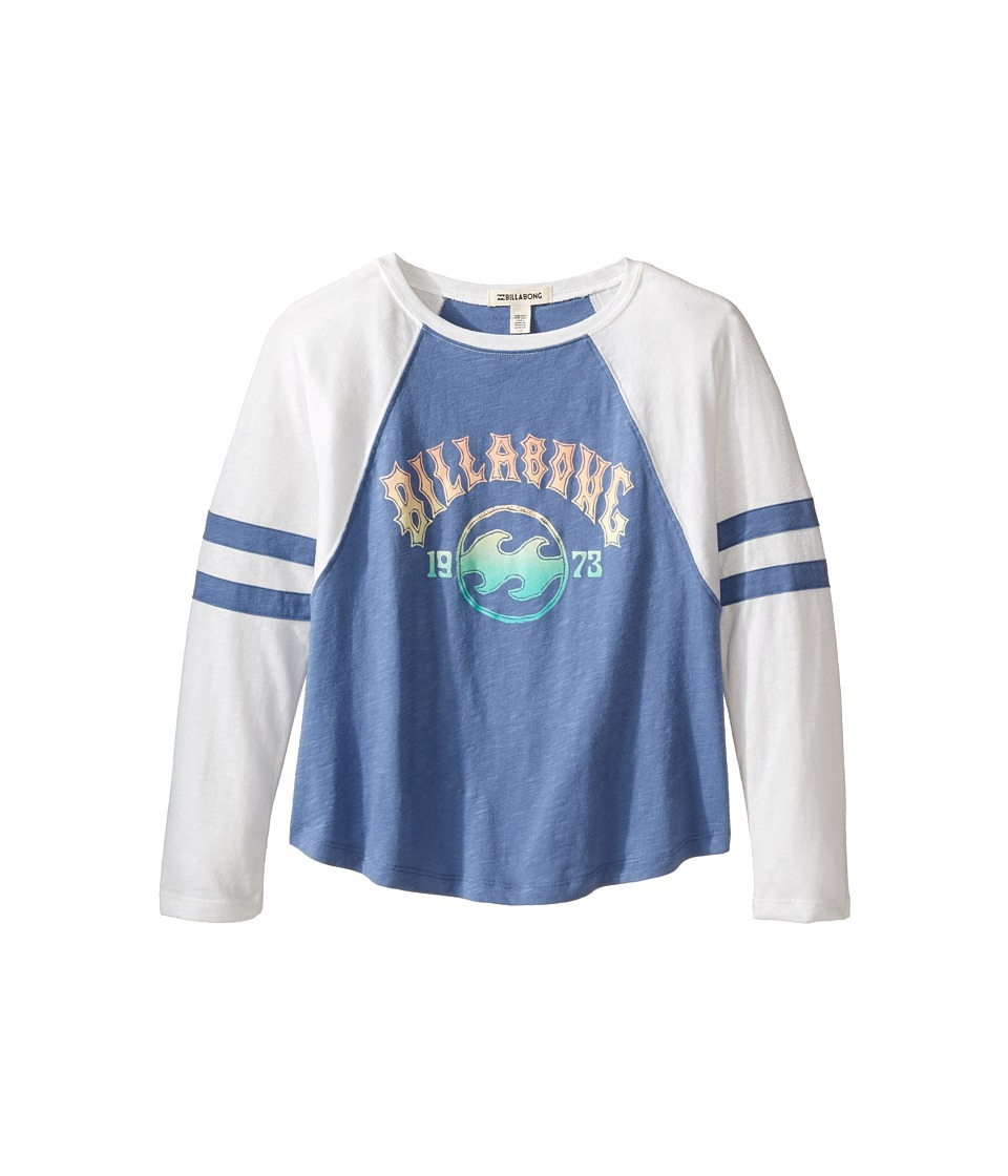 Billabong Kids - Look Around Long Sleeve Tee (Little Kids/Big Kids) (Blue Jay) Girl's Long Sleeve Pullover