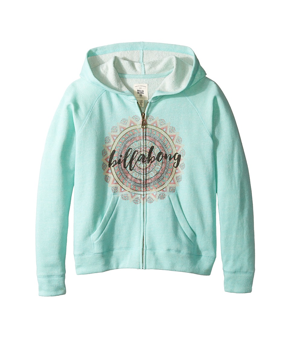 Billabong Kids - Small Steps Hoodie (Little Kids/Big Kids) (Surf Blue) Girl's Sweatshirt
