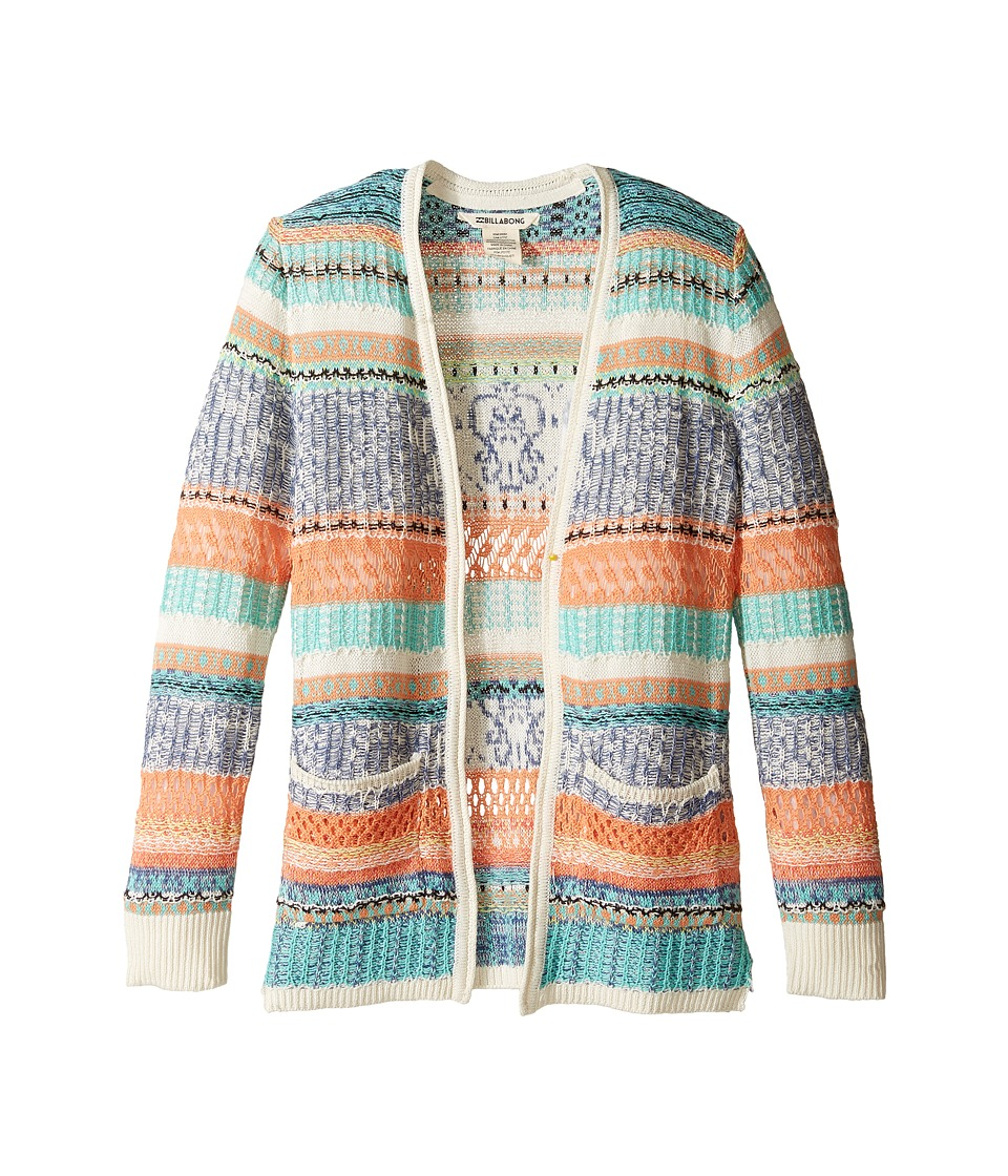 Billabong Kids - Stitches Over You Cardigan (Little Kids/Bigs) (Multi) Girl's Sweater