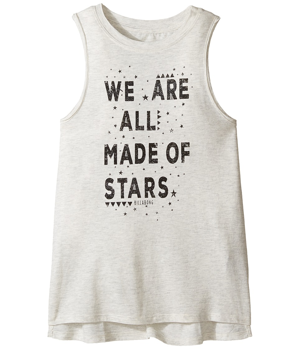 Billabong Kids - Made of Stars Tank Top (Little Kids/Big Kids) (Ice Athletic Grey) Girl's Sleeveless