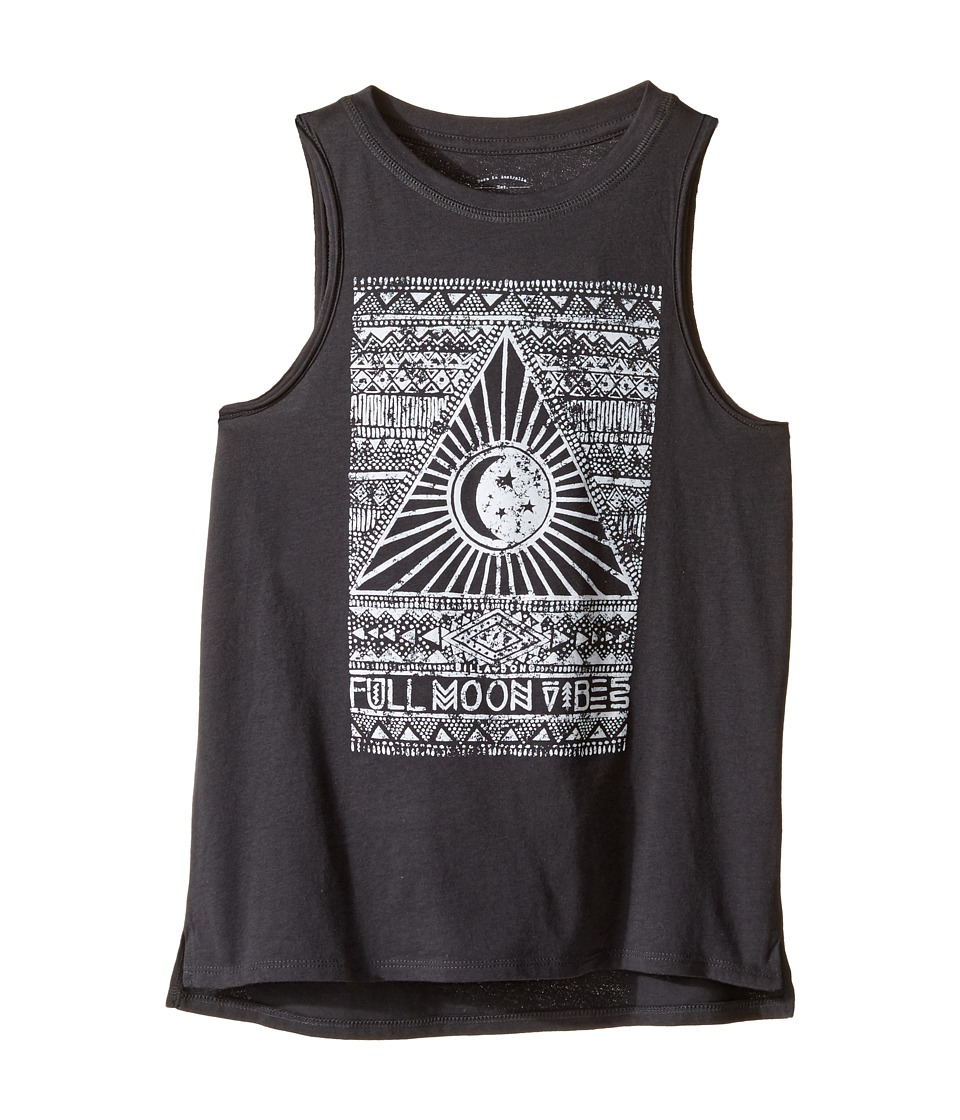 Billabong Kids - Full Moon Vibes Tank Top (Little Kids/Big Kids) (Off-Black) Girl's Sleeveless