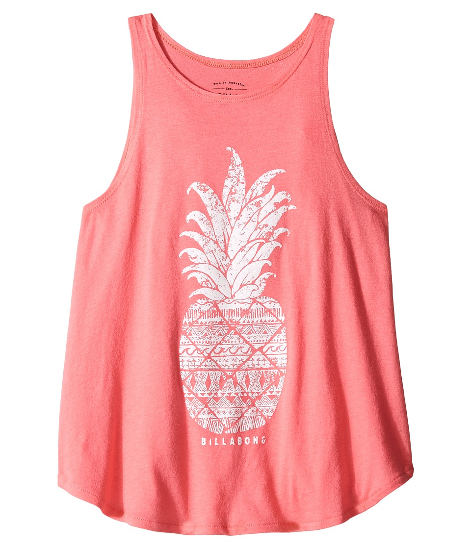 Billabong Kids - Pineapple Stamp Tank Top (Little Kids/Big Kids) (Pink Crush) Girl's Sleeveless