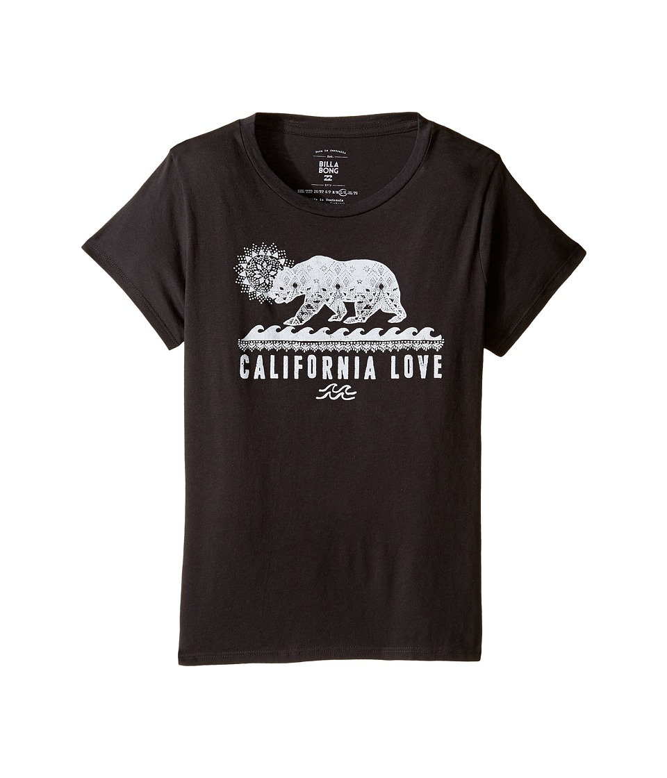 Billabong Kids - Sketch Cali Bear Tee (Little Kids/Big Kids) (Off-Black) Girl's T Shirt