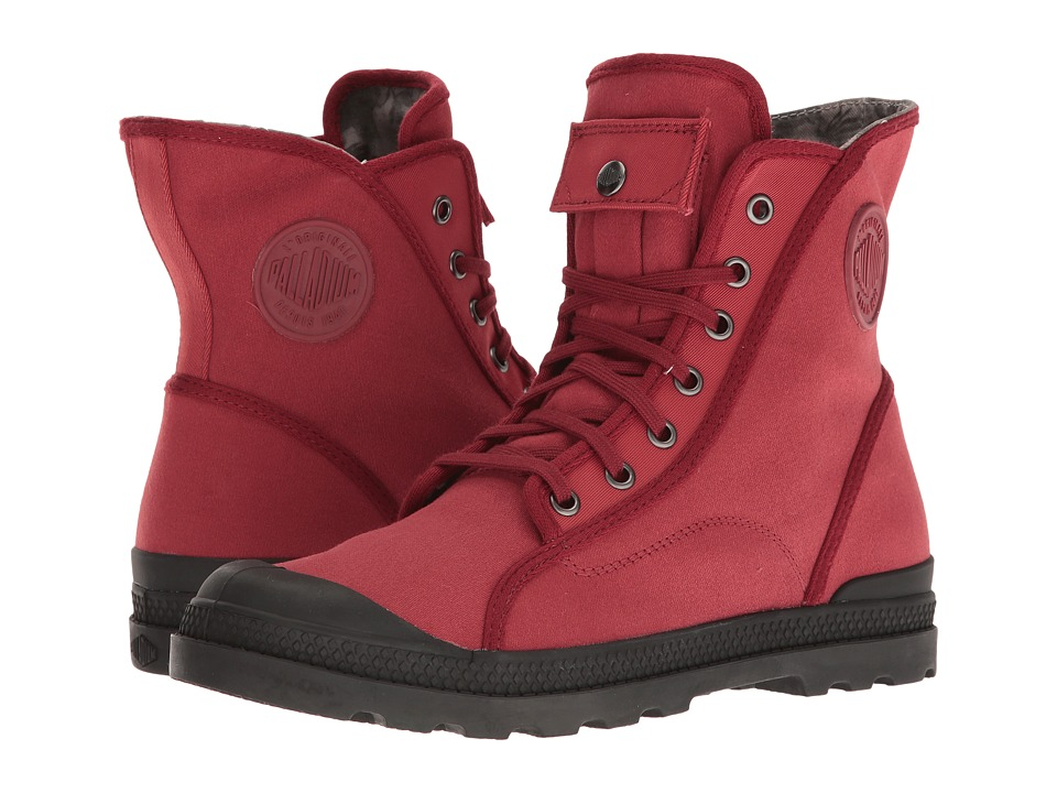 Palladium - Pampa M65 Hi LP (Maroon/Black/Floral Lining) Women's Lace-up Boots