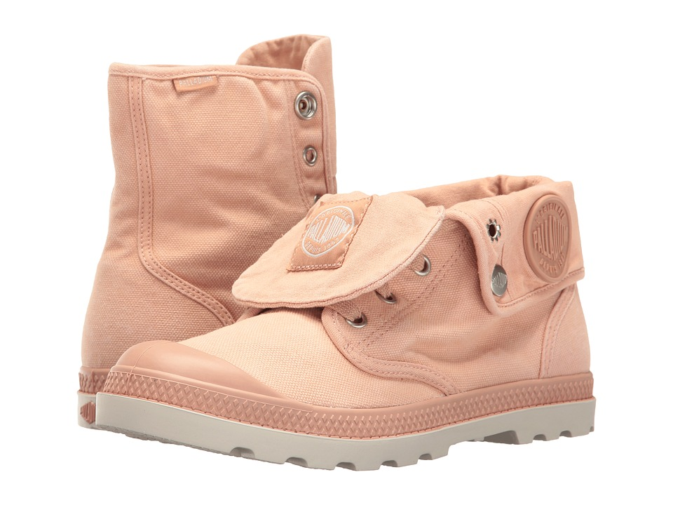 Palladium - Baggy Low LP (Salmon Pink/Silver Birch) Women's Lace-up Boots