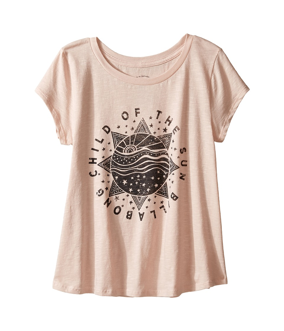 Billabong Kids - Child of the Sun Tee (Little Kids/Big Kids) (Dusty Rose) Girl's T Shirt