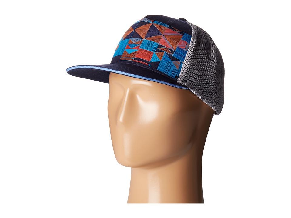 Prana - Geode Trucker Hat (Navy) Caps