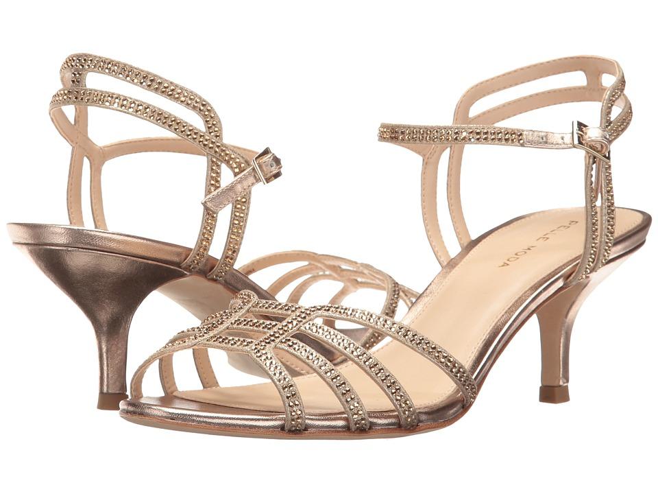 Pelle Moda - Alia (Platinum Gold Metallic Suede) Women's 1-2 inch heel Shoes
